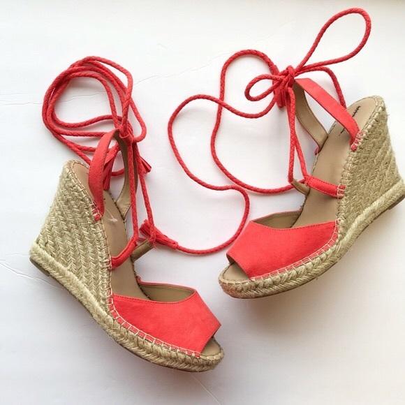 ddf1017c3bf5 Lace up Espadrille wedge sandal 🌷